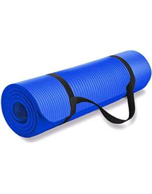 dr.shakya Blue-Strap 6 mm Yoga Mat for Women & Men