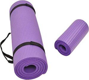 dr.shakya Purple Classic 6 mm Yoga Mat for Women & Men