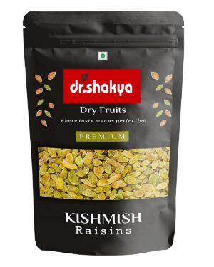 dr.shakya 100% Premium Seedless Green Raisins, 200g