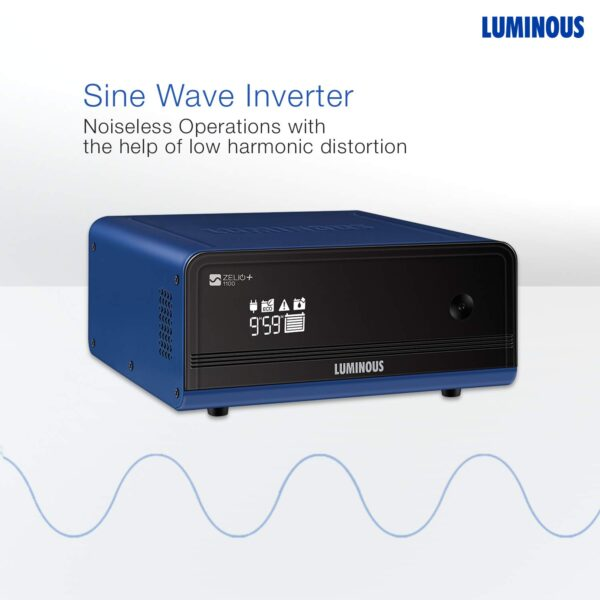Luminous Zelio 1100va Home Pure Sinewave Inverter UPS - 2 Years Warranty