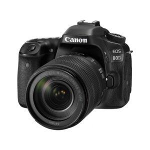 Canon EOS 80D 24.2MP Digital SLR Camera (Black) + EF-S 18-135mm f/3.5-5.6 Image Stabilization USM Lens Kit