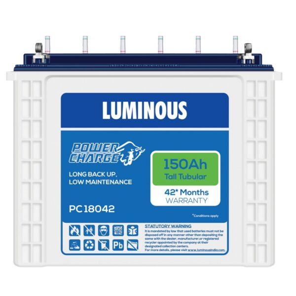 Luminous PC 18042 150Ah Tubular Battery, 50.2 x 44 x 19.1 cm