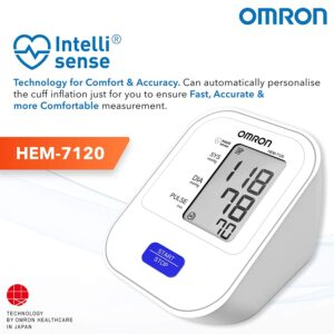 Omron HEM 7120 Fully Automatic Digital Blood Pressure Monitor With Intellisense Technology For Most Accurate Measurement