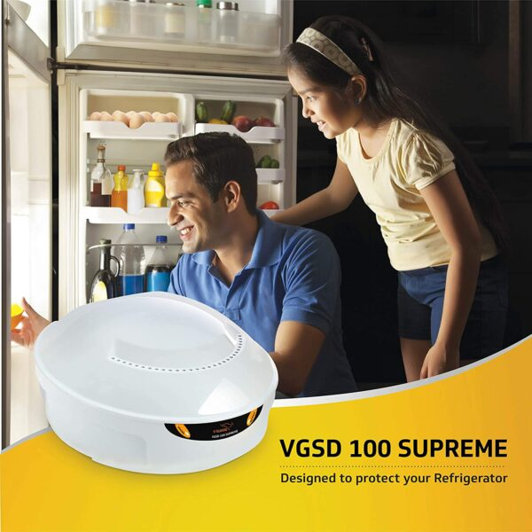 V-Guard Stabilizer VGSD 100 Supreme for Side by Side/ Double Door Refrigerator (300-600L)